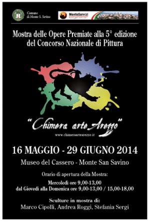 Mostra opere premiate Chimera Arte Arezzo a Monte San Savino